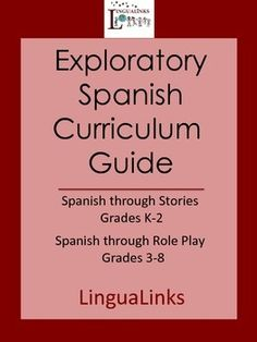 This free curriculum guide gives you an outline of nine exploratory Spanish units for ages K-8. Younger kids learn Spanish in the context of storytelling while older kids have fun with role plays. 9 units total with 175 hours of activities!