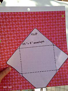 Scrapbook paper envelops