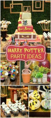 Any Harry Potter fan will not want to miss this spectacular party!- Any Harry Potter fan will not want to miss this spectacular party! See more part… Any Harry Potter fan will not want to miss this… - Baby Harry Potter, Baby Shower Harry Potter, Harry Potter Motto Party, Harry Potter Fiesta, Gateau Harry Potter, Cumpleaños Harry Potter, Harry Potter Halloween Party, Harry Potter Wedding, Harry Potter Christmas