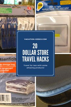 The Dollar Tree store has so many items that can help you travel well and light. The Dollar Tree store has so many items that can help you travel well and light. Here are 20 things that you can find at. Packing Tips For Vacation, Vacation Trips, Travel Tips, Travel Hacks, Europe Packing, Suitcase Packing, Traveling Europe, Vacation Deals, Backpacking Europe