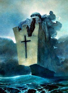 Beksinski (1985) 133 x 98 cm