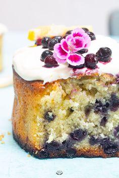 Cake citron myrtilles