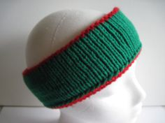 Items similar to Hand Knitted Reversible Green and Red Ski Band on Etsy Free Knitting, Yarns, Trending Outfits, Unique Jewelry, Handmade Gifts, Green, Etsy, Vintage, Kid Craft Gifts