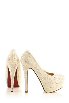Champagne Diamonte High Heels