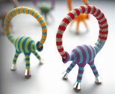 Felieke van der Leest stripey animal bracelet - in the collection of CODA Museum, the Netherlands