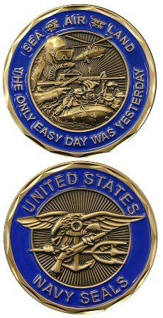 U.S. NAVY SEALS Coin -Eagle Crest  - This is a gorgeous coin! #Navy #Seals