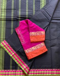 No photo description available. Pattu Saree Blouse Designs, Saree Blouse Patterns, Fancy Blouse Designs, Cotton Saree Blouse, Saree Dress, Sari Blouse, Silk Sarees, Stylish Blouse Design, Saree Models