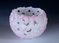 image of Social Butterfly pate de verre sculpture made by Sue Hawker