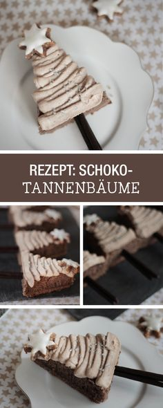 Süße Schoko-Weihnachtsbäume backen mit Frosting / chocolate christmas trees: perfect dessert for christmas via DaWanda.com
