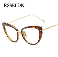 77f16deff3 RSSELDN 2017 Fashion New Women Eyeglasses Frames Classic Brand Designer  Luxury Cat Eye Glasses Trendy Lunettes Vintage