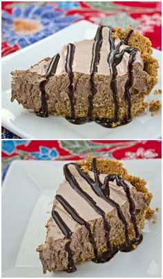 My grandma's Chocolate Cream Pie with a Graham Cracker Crust is light and airy with a rich, chocolate filling and a buttery crust. | Culinary Hill