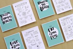 Recipe for a happy tum on Behance