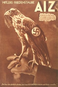 "John Heartfield - "" Hitler`s Friedenstaube "" - 1935 ( "" Hitler's dove of peace "" )"