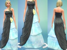 The Sims Resource: Elegent Swan Dress by Otakutwins • Sims 4 Downloads