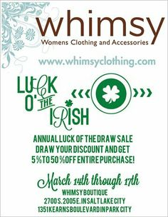 Luck of the draw sale at whimsyclothing.com