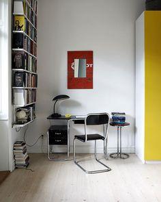 Bauhaus workspace @myricastylist #amyricastylist #bauhaus #workspace #Corbusier Interior Bauhaus, Bauhaus Furniture, Deco Furniture, Home Interior, Interior Styling, Furniture Design, Interior Decorating, Interior Design, Architecture Bauhaus