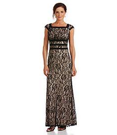 Sangria Floral Lace Gown Dillards $89