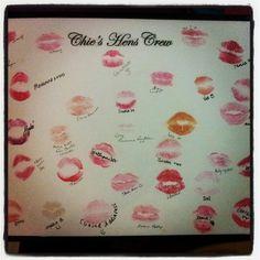 My hen's night memorabilia :) @VeeFitto @Erin B #framedkisses #kissthesinglelifegoodbye