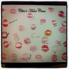 My hen's night memorabilia :) @VeeFitto @Erin B B #framedkisses #kissthesinglelifegoodbye