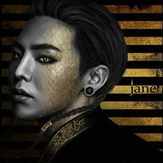 GD. GOLD SERIES. #JaneSallvadore #Art #artist #예술가 #digital_art #illustrations #digital_painting #그림 #gold #cs6 #kpopart #BIGBANGART #BIGBANG #빅뱅 #MADE #VIP #madewithlove  #GD #GDRAGON  @xxxibgdrgn @peaceminusone