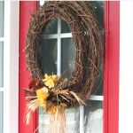 Autumn Wreath - love the double grapevine wreaths!