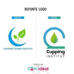 Refonte de logo pour Cupping / Hijama institut. Voici le avant / après.  Logo redesign for ‹ Cupping institut › with before / after.  #logoroom #logomaker #logo #brandmark #graphicdesign #picoftheday #logodesigner #simplycooldesign #branding #logotype #logo_showcase #identitydesign #brandmark #logocore #logodesigns #logoinspire #logopedia #dailylogochallenge #instagram #logoinspiration #artist #colorful #illustrator #behance #dribble #hijama #cupping #ventousotherapie Logo Inspiration, Identity, Signs, Graphic, Voici, Behance, Diagram, Branding, Chart