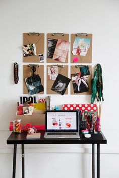 Love the clipboard idea. Small Apartment Decorating & Organization Ideas | Her Philly