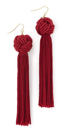 ✖️Vanessa Mooney The Astrid Knotted Tassel Earrings | SHOPBOP✖️