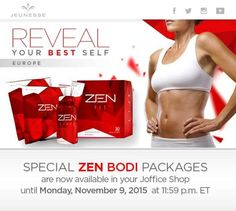 ZENBODI packages available until 9th of November. For Jeunesse members only! If your not a Jeunesse member and wish to become one please feel free to contact me. 12 months membership only £24!... works out at less than £2 per month!.. All products available then at wholesale!