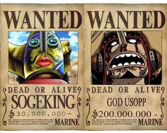 One Piece Usopp Wanted Poster