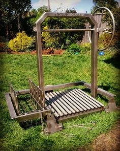 Time to start building the outdoor kitchenette. Outdoor Grill Area, Outdoor Kitchen Patio, Outdoor Oven, Outdoor Kitchens, Outdoor Cooking, Diy Grill, Barbecue Grill, Parilla Grill, Grill Grates