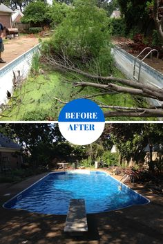 11 best pool makeovers images pool liners pools pool spa - Swimming pool companies in memphis tn ...