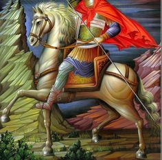 Byzantine Icons, Byzantine Art, Religious Icons, Religious Art, Creativity Exercises, Russian Icons, Saint George, Orthodox Icons, Mexican Art