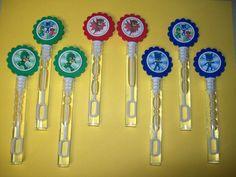 8 PJ MASKS bubble wands birthday party favors | Home & Garden, Greeting Cards & Party Supply, Party Supplies | eBay!
