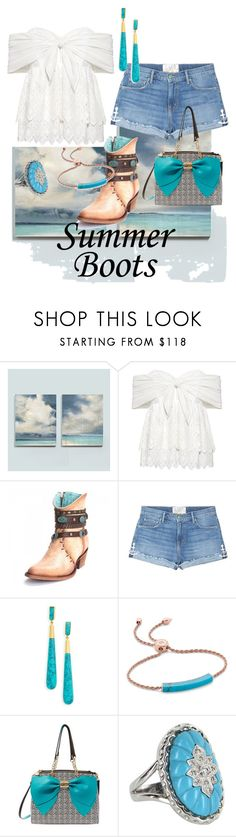 """#summerboots"" by stina715 on Polyvore featuring Ballard Designs, Sea, New York, Sandrine Rose, Dean Davidson, Monica Vinader, Betsey Johnson, Vintage and summerbooties"
