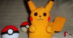 This is a Pikachu doll I made for my daughter.   Even though I've been crocheting for 35 years, this is the first time I've ever tried to w...