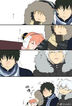 Sougo Okita x Kagura [OkiKagu], Gintama, Hijikata Toshirou, Sakata Gintoki Anime Love Couple, Cute Anime Couples, Okikagu Doujinshi, Manga Anime, Anime Art, Sheep Cartoon, Cute Sheep, Comedy Anime, Fullmetal Alchemist Brotherhood