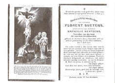 Bidprentje van Florent Suetens, echtegenoot van Nathalie Hertsens.Voorzitter van de bond der vleeskeurders.