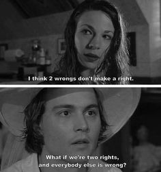 What if we are two rights and everyone else is wrong? Arizona Dream | looove this movie