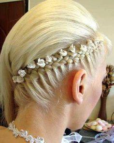 Medium Blonde Homecoming Hairstyle - My list of womens hair styles Up Hairstyles, Pretty Hairstyles, Braided Hairstyles, Wedding Hairstyles, Wedding Updo, Elegant Wedding, Black Hairstyle, Amazing Hairstyles, Elegant Updo