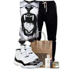 Lion Face, created by cheerstostyle on Polyvore<3