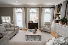 a neutral living room with entertaining space to spare our open