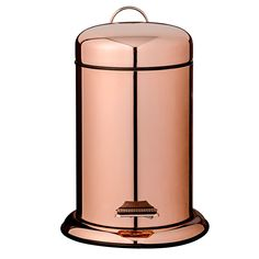 Bin-off stainless steel and say HELLO to this gorgeous rose gold kitchen pedal bin! The perfect way to give waste disposal a touch more stylish. http://www.deterra-kitchens.co.uk/blog/top-ten-copper-accessories-for-solid-wood-kitchens/