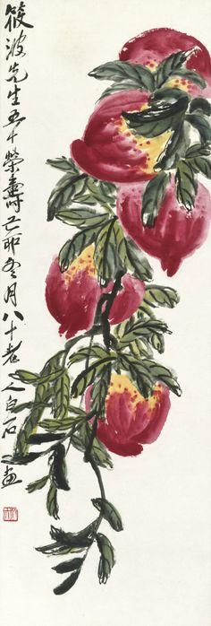 Qi Baishi (1864-1957) LONGEVITY PEACHES