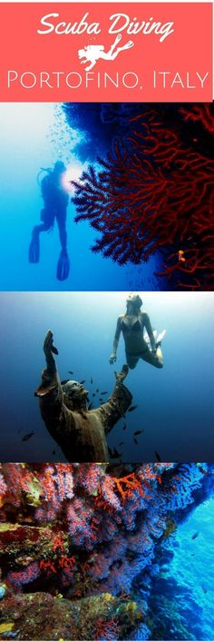 Scuba diving in Portofino Marine Protected Area - World Adventure Divers http://www.deepbluediving.org/best-tips-on-equalizing-when-diving/ #scubadivingquotes #scubadivingquotesunderwater