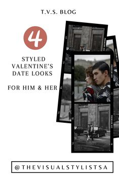We have curated some super stylish – non cheesy – date looks for him and her, no matter what your plans are. These 4 date looks will hopefully inspire you for the month of love! Stylists, Dating, Valentines, Inspire, How To Plan, Blog, Inspiration, Style, Valentine's Day Diy