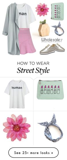 """""""Wholesale7/ girl"""" by lee77 on Polyvore featuring Emma Lomax, women's clothing, women's fashion, women, female, woman, misses, juniors, skirt and platforms"""