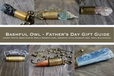 bashful owl Father's Day Gift Guide - bullet necklaces