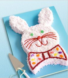 cute bunny cake using two rounds