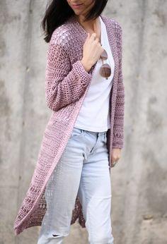 Verano Longline Cardigan Pattern – Mama In A Stitch Crochet Coat, Crochet Cardigan Pattern, Crochet Clothes, Easy Crochet, Crochet Patterns, Stitch Patterns, Crochet Jumper, Crochet Sweaters, Crochet Jacket